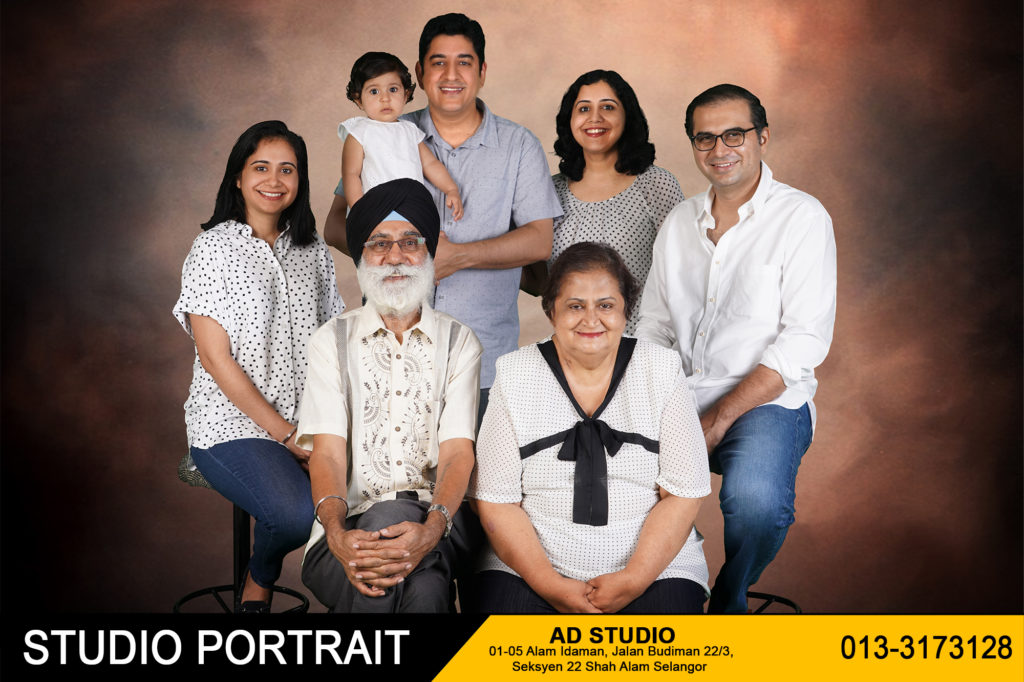 Family Portrait In Studio 8