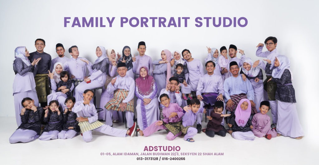Family Portrait In Studio 1