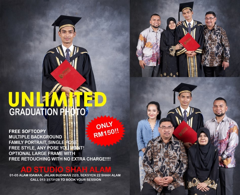 FUN FREESTYLE UNLIMITED POSE FAMILY PORTRAIT FOR CONVOCATION