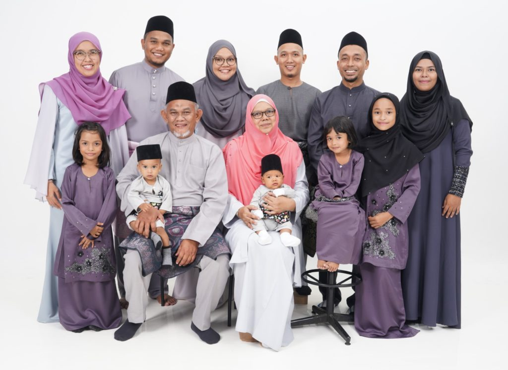 Family Portrait In Studio 10