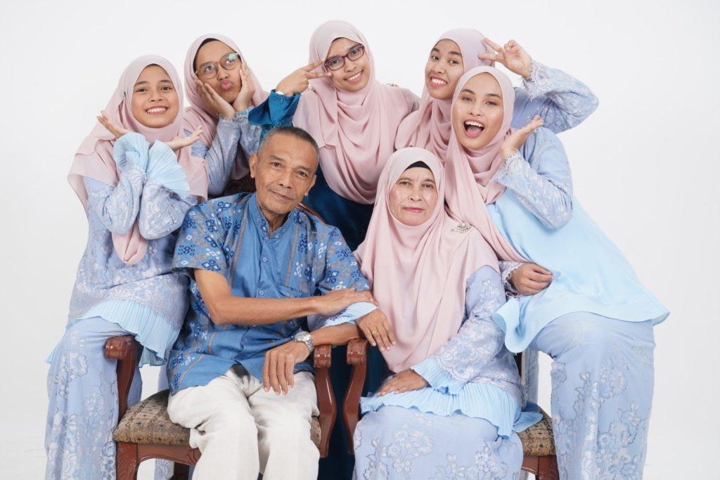 Family Portrait In Studio 6