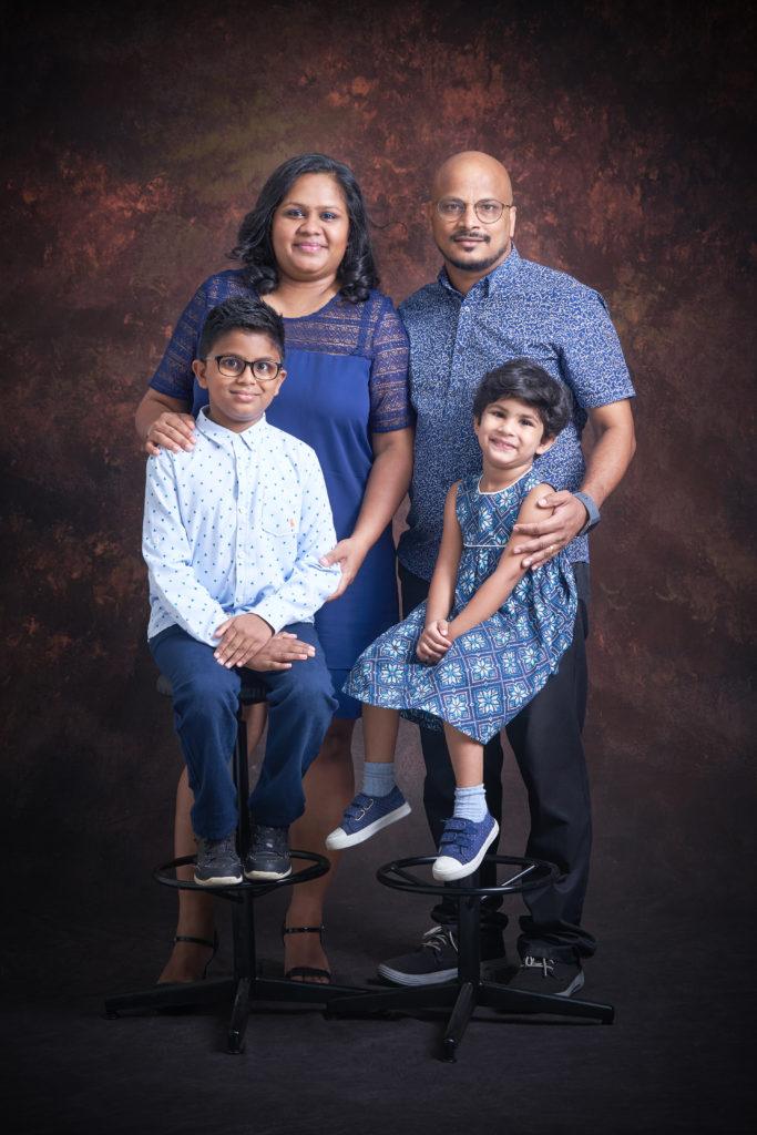 Family Portrait In Studio 2