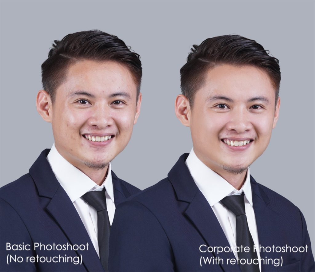 before and after retouching corporate profile  photo professional  headshot business foto studio shah alam selangor kuala lumpur malaysia